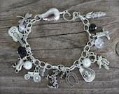 Cowgirl, Country Girl Charm Bracelet, Western, Custom, Handmade by Okrrah