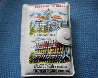 Vintage Souvenir Playing Card Kit featuring Colorful Colorado
