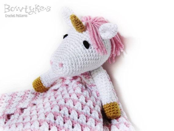 Knitting Pattern For Unicorn Blanket : Unicorn Lovey CROCHET PATTERN instant download - blankey ...