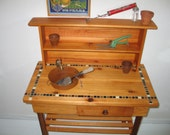 Potting Bench - Faucet, Sink, Shelf, Drawer and Brown Tile