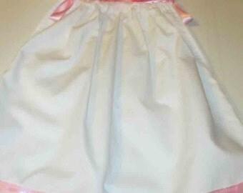 Sweet White And Pink Pillowcase Dress