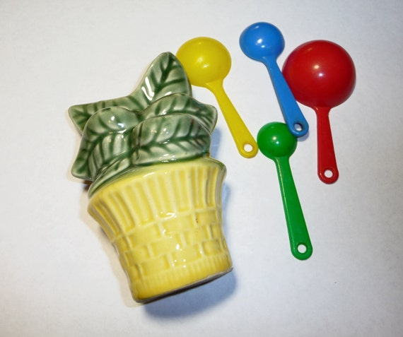 Measuring Spoons With Stand: 1950s Measuring Spoon Holder And Spoons On Etsy