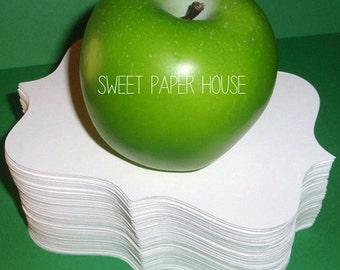 200 - 3x2 inch Bracket Tags - Cardstock (Choose Colors) (Birthday, Wedding Tree, Shower, Classroom, Reception, Place Setting, Teacher, Cute)