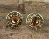Bullet Jewelry - Bullet Earrings - Winchester 45 AUTO - Topaz Club Hoppers