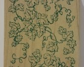 Ivy Pattern Background Rubber Stamp by All Night Media