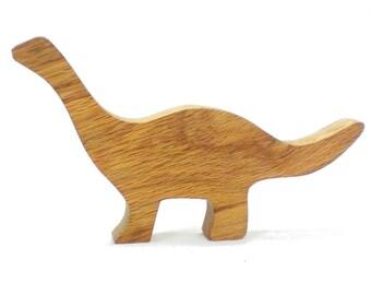 Wood Dinosaur Toy,  Brontosaurus err . . . APATOSAURUS