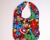 superhero Baby bib avengers marvel Minky summer children cotton