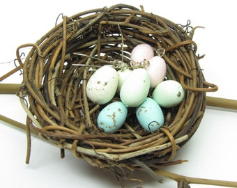 Robin's Egg Earrings Pastel Speckled Spring Bird Eggs Polymer Clay
