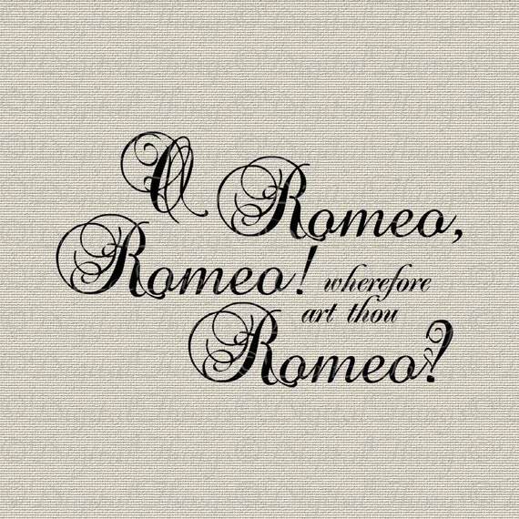 Shakespeare Romeo And Juliet Quotes Custom Romeo And Juliet Shakespeare Quote Script Wall Decor Art