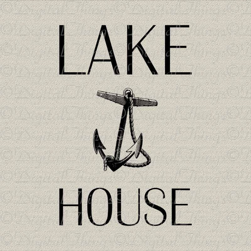 Wall Decor For Lake House : Lake house anchor beach art nautical decor wall