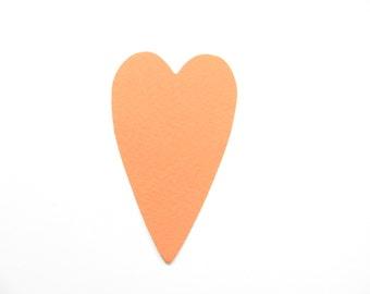Confetti - 50 CARDBOARD hearts - Orange - Wedding - Baby shower - Flavors - Autunno - Decoration