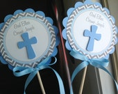 Baptism Centerpiece Decoration Sticks Set of 2