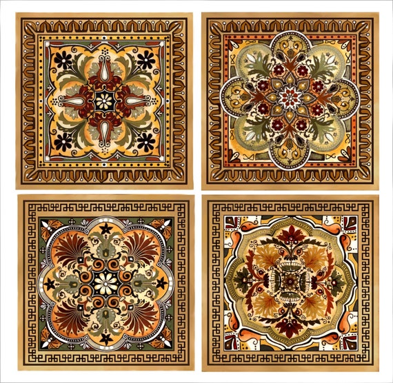 Italian Renaissance Design Custom Backsplash Ceramic Tile Set