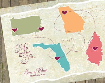 Map guest map map guest 2017 have your wedding guests sign in with a travel map wedding guest book watercolor world map custom color by macanaz on the map unique gumiabroncs Image collections