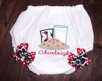 Boutique Cookies with Milk Glass Birthday Bloomers with Bows