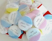 Bachelorette party hen's party Personalised badge  'Spots' pinback button  badge - 5/10 button pack