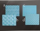 Blue Curtain Panels 25'' x 84'' Pair Lined Indigo Denim Cornflower Apache Blue Nautical