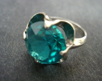 CLASSIC Elegance STERLING RING -  Sterling Silver -  Ladies Ring  - Blue Topaz Color Stone
