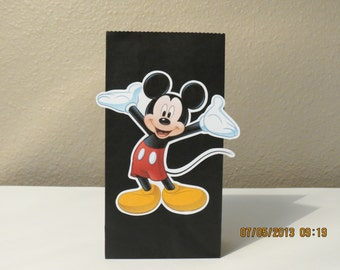 Mickey Mouse Favor/Gift Bags (Set of 8 Mini Paper Sacks)