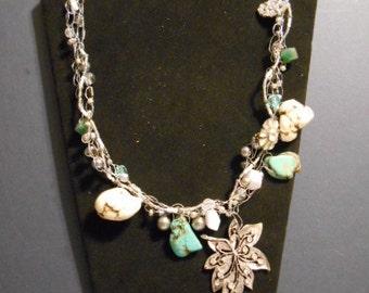 Sale:     Vintage, Something Old, Something New, wire, beads, turquiose, rhinestones