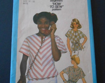 Simplicity 8347, Top, size 14-16-Miss