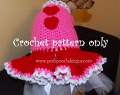 Instant Download Crochet Pattern - Valentine Dog Dress - Small Dog Sweater 2-20 lbs