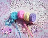 Sweet Pastel Cookie Star Cell Phone Charm