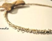 Rustic wedding wreaths - beach wedding wreath- wedding crown - orthodox stefana - bridal accessories -  set  of two