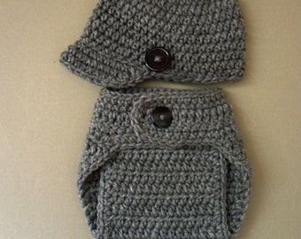 Hat and Diaper Cover, Baby Diaper Cover And Hat, Diaper Cover Set