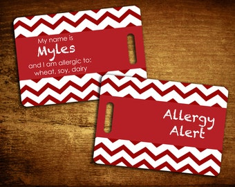 Allergy Personalized Bag/Luggage Tag
