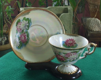 Lusterware Tea Cup and saucer