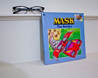 1986 MASK story book - The Roteks - cartoon transformers M.A.S.K. 80s
