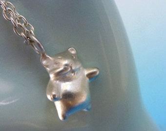 Handmade Sterling Silver Hamster Necklace