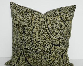 Tommy Bahama Designer Pillow Cover, Decorative Throw Pillow Cover Molokai, Black, Cushion Cover