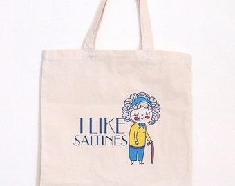 I like Saltines Nona Tote Bag  //SUPER SALE//