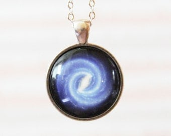 Universe Necklace -Milky Way in Spiral Shape -Galaxy Series