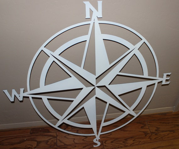 Nautical Compass Wall Decor : Nautical compass rose wall art metal decor by