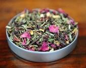Organic Hibiscus Tea in square tin