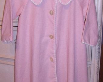 Vintage, Girls Coat, Spring Coat,Easter, Linen LIke Duster Coat, Pink Duster,  Duster Coat, Lined Coat