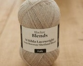 IN STOCK!!!  St. Kilda Laceweight Soay/Boreray/Shetland Blend Worsted 2-ply knitting yarn