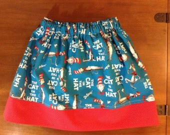 Cat in the Hat skirt / Dr  Seuss Cat In The Hat skirt / Dr. Seuss skirt / Cat in the Hat birthday / Dr. Seuss Birthday / Cat in the Hat