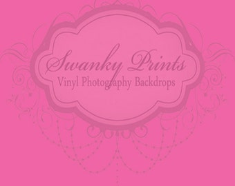 5ft x 5ft SOLID Hot Pink ----- Vinyl Photography Backdrop