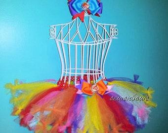 Rainbow tutu--Candyland tutu-- Rainbow birthday-- Candyland birthday