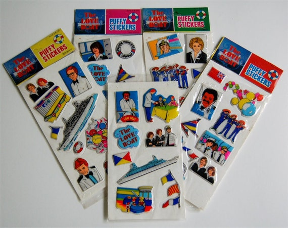 I Love The 80s Toys : Vintage s the love boat puffy stickers imperial toy sets