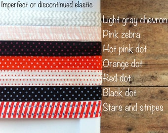 SALE Extra 15% OFF 10 Yards Print Shiny Elastic FOE - Imperfect or Discontinued - You choose colors
