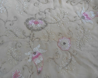 1920's Floral Beaded Trim