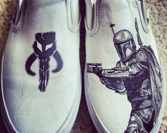Boba Fett and Mangolorian Symbol Vans ARTWORK and SHOES INCLUDED