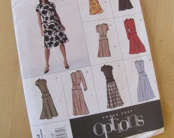 Uncut Vogue Sewing Pattern 2654 - Easy Options - Misses  Petite Top & Skirt - Size 14-18