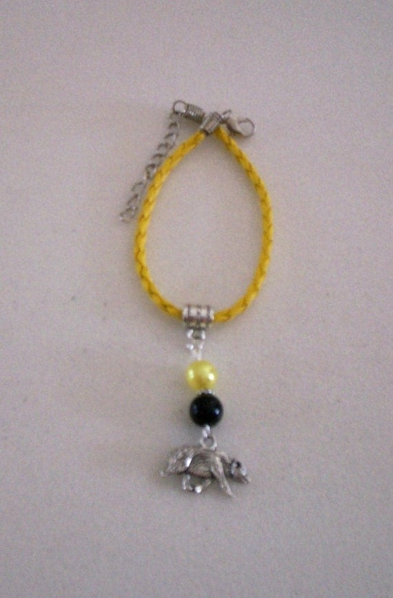 Harry Potter Inspired Hufflepuff Bracelet
