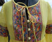 Sale~ Vintage BEVERLY PAIGE Renaissance Festival Dress flower child HIPPIE earth mama gypsy